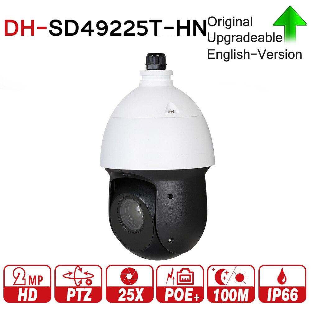 DH SD49225T-HN con logo originale 2MP 25x Starlight IR PTZ Telecamera ip di Rete Ad Alta Velocità IP Della Cupola Della Macchina Fotografica Digitale Zoom impermeabile