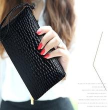 Women's Clutch Bag Simple Fashion Black PU Leather Handbag Stone Pattern  Shaped Small Clutch bag Women Phone Money Bag Clutch