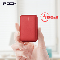 Rock mini 10000 mah power bank portátil ultra fino polímero powerbank bateria para iphone samsung xiaomi huawei e mais|Baterias Externas| |  -