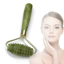 Facial Massage Roller Jade Stone Face Lift Hands Neck Body Nature Beauty Rolle DropShipping