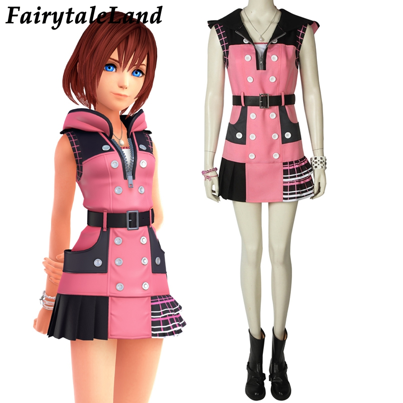 Kingdom Hearts 3 Kairi Cosplay Costume Halloween Party Costume Princess Of Heart Dress Kairi Dream Drop Distance Cosplay Suit