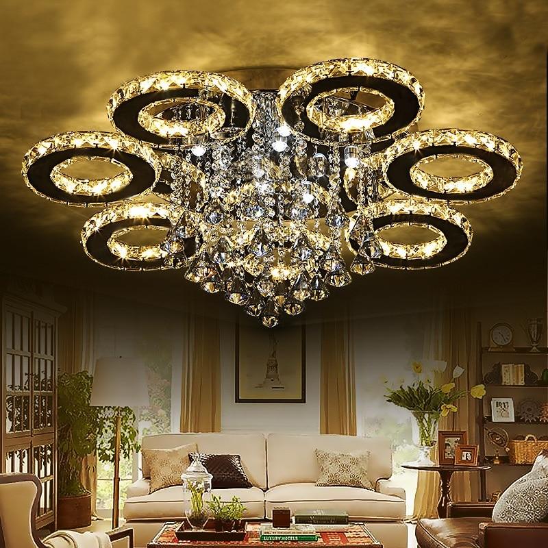 Modern luxury crystal led ceiling Lights lighting living room bedroom lighting creative restaurant Ceiling lamp AC110-240V