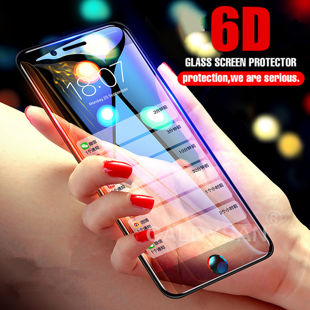 online store 2cb14 b6be8 US $2.74 25% OFF|6D Curved Tempered Glass For IPhone 8 6 6s 7 Plus Screen  Protector Glass For IPhone X 10 6 6s 7 8 Plus Protective Glass Film-in  Phone ...