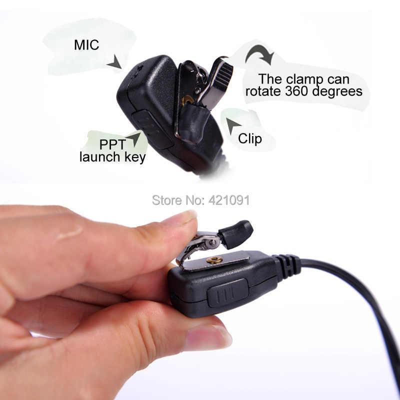 Oortelefoon Headset Microfoon voor Baofeng UV-5r BF-888s UV-82 GT-3 Radio Walkie Talkie Microfoon Air Akoestische Buis 2 Pin PPT Accessoires