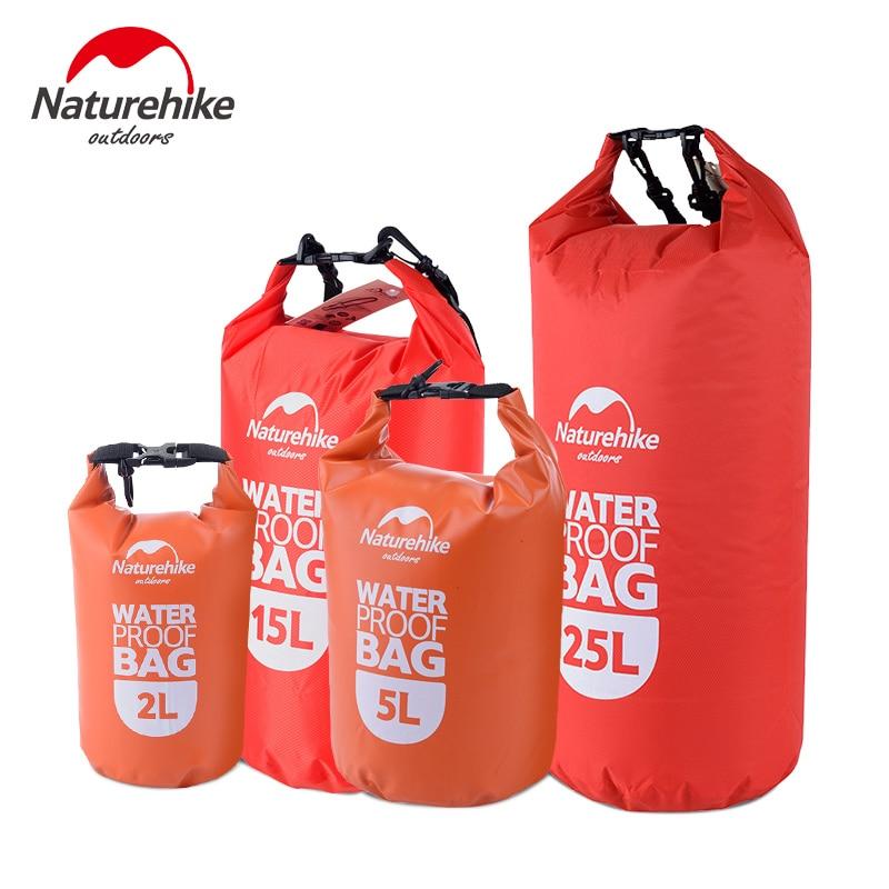 Naturehike 超軽量水泳バッグドライ 4 色屋外ナイロンカヤック収納漂流防水ラフティングバッグ 2L 5L 15L 25L