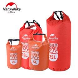 Naturehike Ultraligero Bolsa de Natación Seco 4 Colores de Nylon Al Aire Libre Kayak Rafting Bolsa de Almacenamiento Impermeable de Deriva 2L 5L 15L 25L