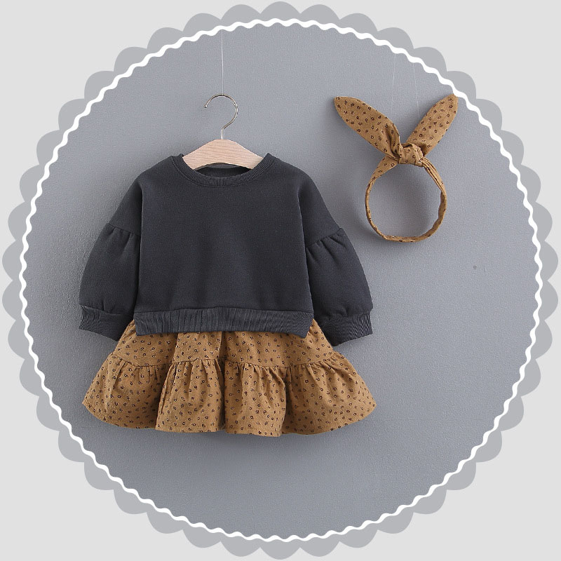 Infant Dress 2019 Spring Baby Girls Autumn Winter Plus Velvet Dress Girl Baby Gifts Birthday Party Princess Long-sleeve Clothes