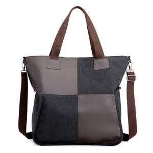 Image 5 - 2020 Vintage قماش المرأة حقيبة يد حقيبة يد عادية مبطن سعة كبيرة السيدات حقيبة يد طالب كلية حقيبة كتف عبر الجسم