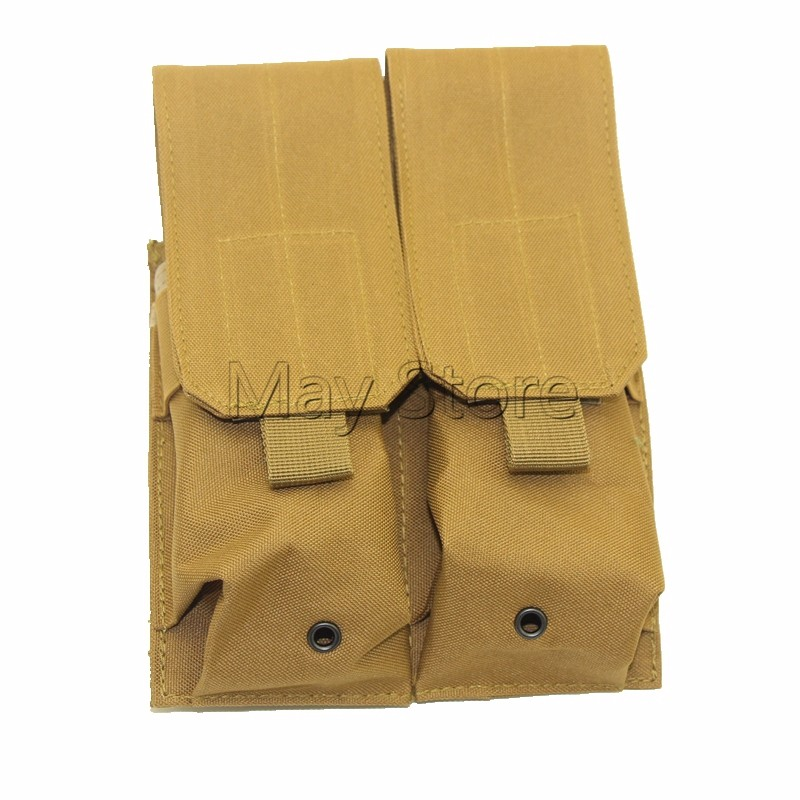 Coyote/Brown/Tan/Sand Army Utility Double Large Magazine Clip Pouch Can be add on Tactiacl Vest Double M4 Mag Pouch