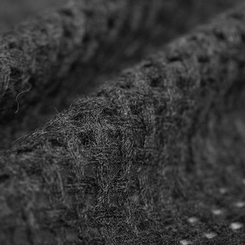 145 см шириной 300 г/м Вес трикотажные твид тонкий вырезать черный шерсть Ткань для Осень и весна платье куртка E653