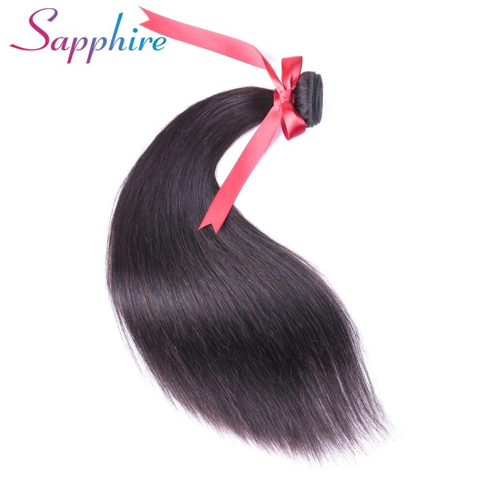 Sapphire Hair Straight Peruvian Hair Weave Bundles 10-28 inch Natural Color Human Hair Bundle Deals 100% Remy Hair Extensions