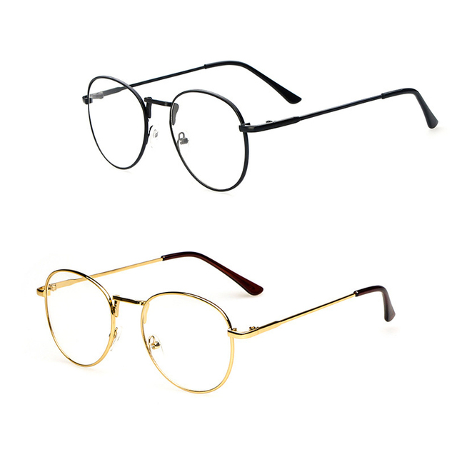 1aa7866bcee The most popular new Europe gold mirror metal thin frame glasses round Ms. fan  art tide men glasses frame
