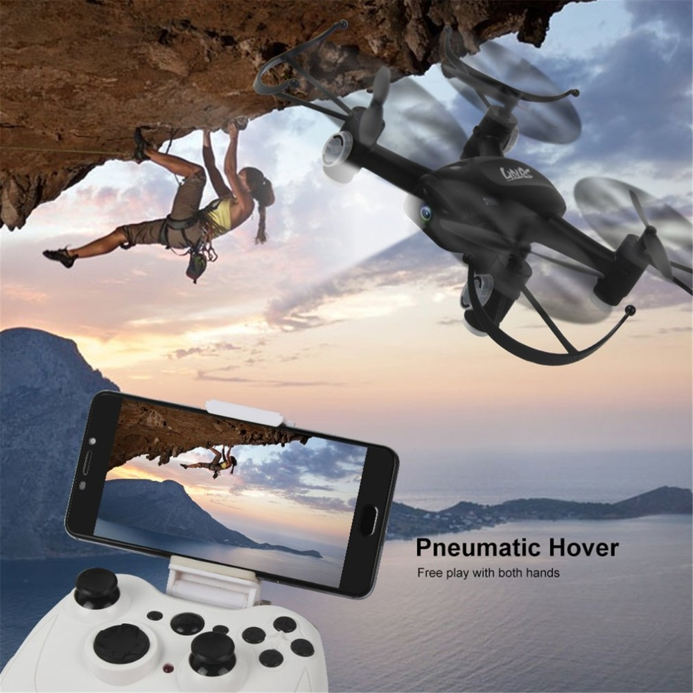 L8HW Mini Selfie RC Quadcopter Drone with Wifi FPV Drone 720P Camera Altitude Hold Headless Mode 360 Flips Two Batteries RTF