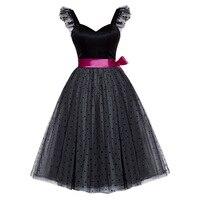 Bohoartist Short Dress Black Sleeveless Knee Length A Line Fashion Dresses Women Sweetheart Neck Sashes Party