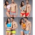 Смешайте Модели Бамбуковое Волокно мужские Боксеры + женские Трусики Лучшие Любовники Белье Пара Трусики 4 Размер L-XXXL