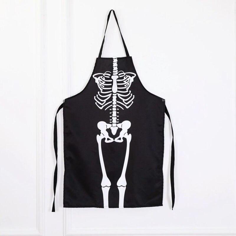 Volwassen Unisex Terreur Halloween Kostuum 3d Print Skelet Bone Overgooier Restaurant Hotel Ober Horror Schort Mannen Vrouwen Prestaties
