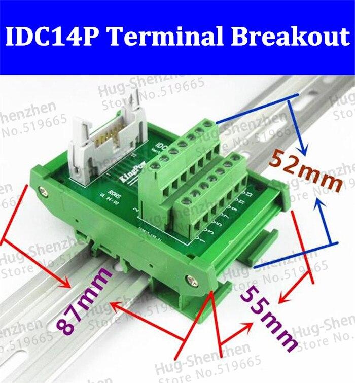 6 Pin Terminal Block Škoda 1j0973713: IDC14P IDC 14 Pin Male Connector To 14P Terminal Block