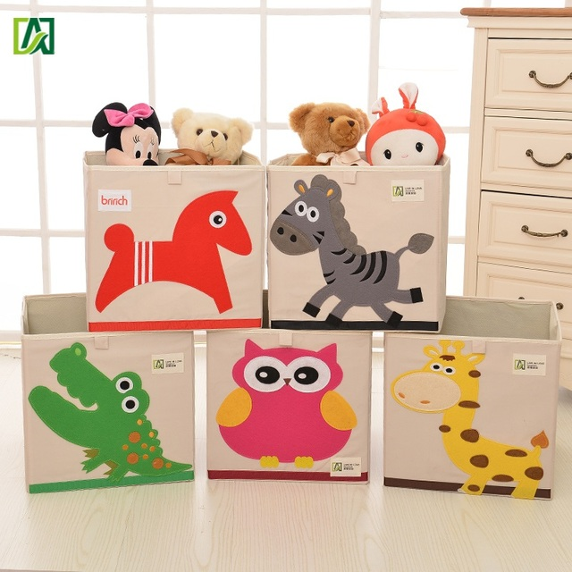 Childrens Animals Storage Box Chest 3 Kids Drawer Bedroom: New 3D Embroidery Cartoon Animal Children Toys Storage Box