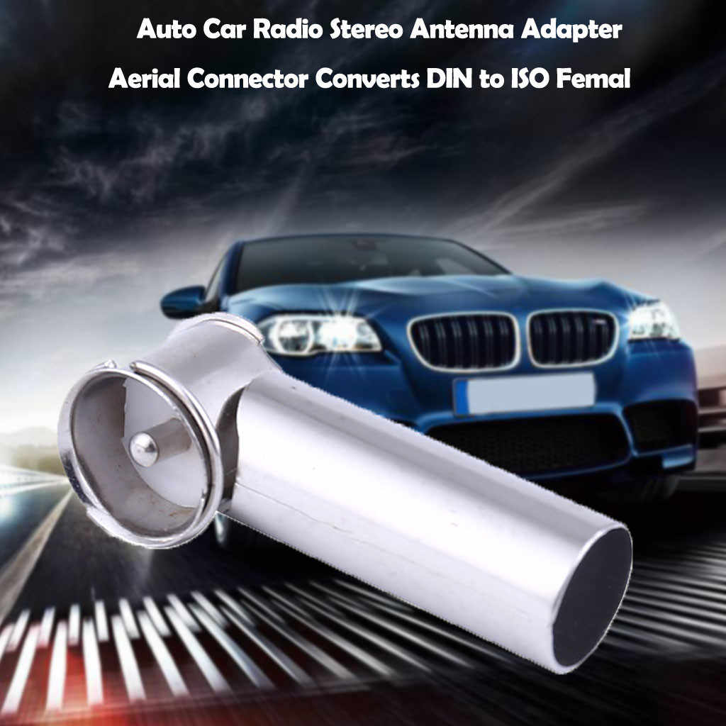 2019 Hot Deals Auto Car Radio Stereo Antenna Adapter Aerial Connector Converts DIN to ISO Drop Shipping