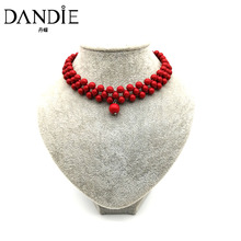 Dandie short choker necklace with 8mm acrylic bead design, elegant jewelry new