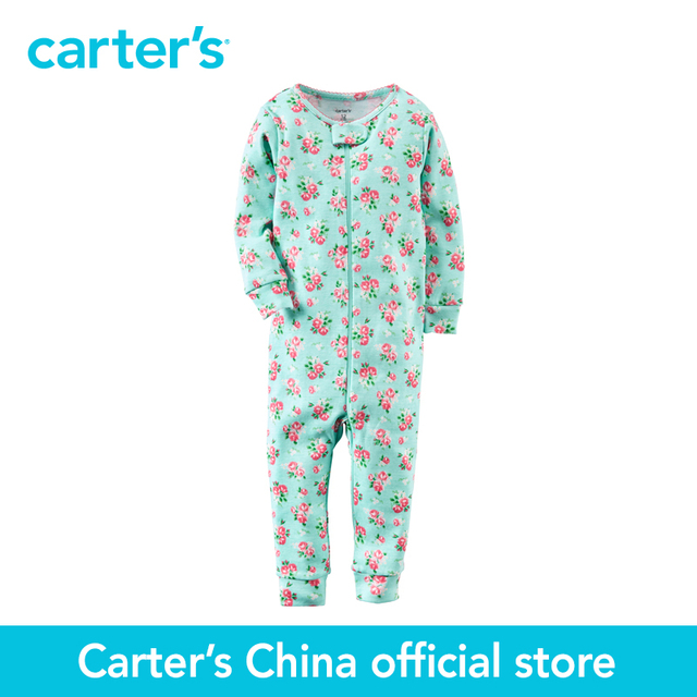 Картера 1 шт. детские дети дети Хлопка На Молнии Footless Сна и Играть 351G172, продавец картера Китай официальный магазин