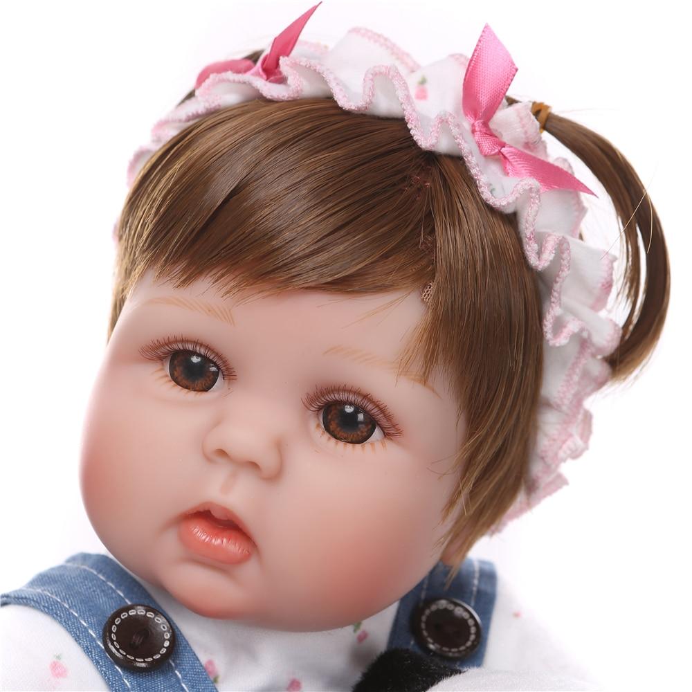 NPK 18inch 42cm Newborn Dolls Lifelike Reborn Dolls Babies Full Body Silicone Vinyl Bebe Reborn Birthday Gift For Girls Kids Toy