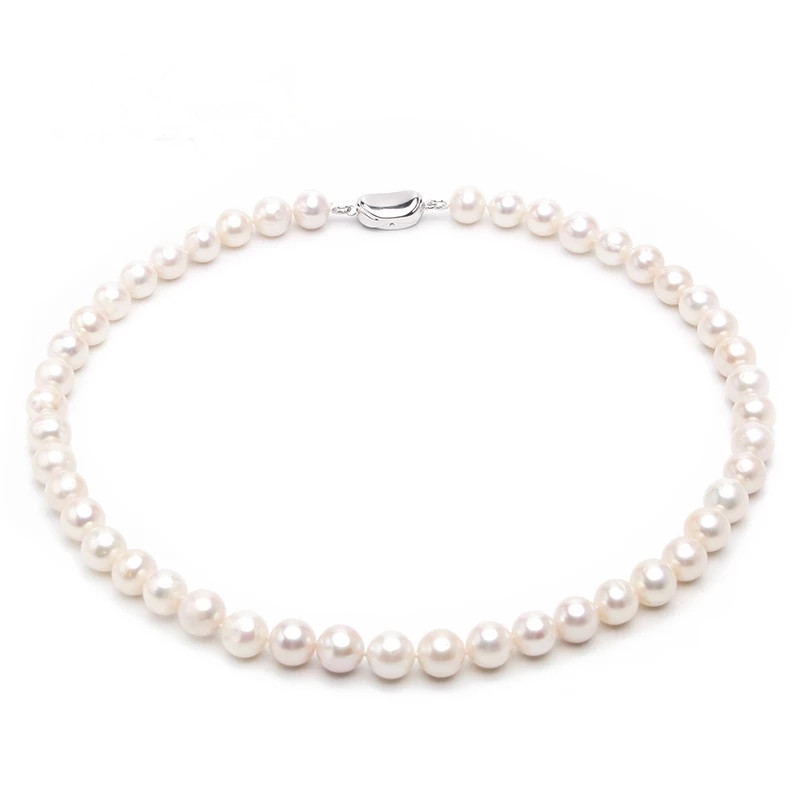 Jewelry Necklaces Pearls Sterling Silver Freshwater Cultured Pearl Necklace