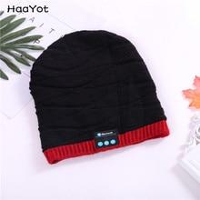 72027782a68 HAAYOT Fashion Beanie Hat Cap Wireless Bluetooth Earphone Smart Headset Speaker  Mic Winter Outdoor Sport Stereo