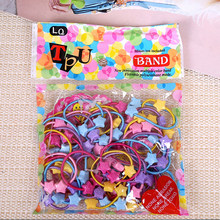 New Trendy Rubber Bands 50pcs/bag Kids Baby Child Elastic Hair Band Tie Rope Braid Hair Style Promotion Mix Color(China)