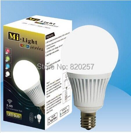 free shipping 5W E14 RGBW RGB+warm white/cool white 4 channel led bulb, 2.4Ghz wifi compatible led bulb, Milight bulb цены онлайн