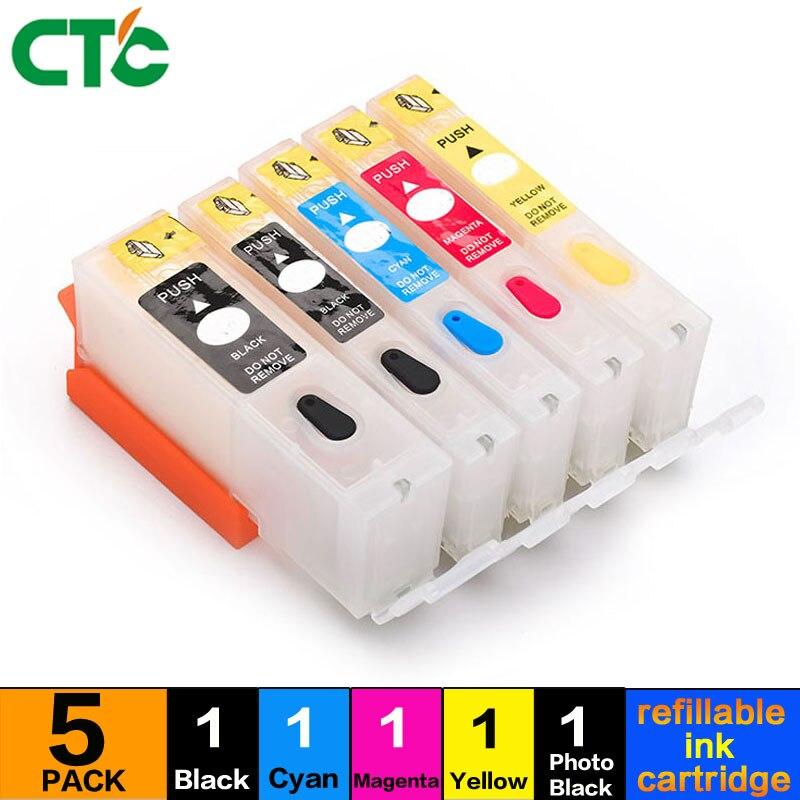 CTC 570 571 PGI-570 PGBK CLI-571 compatible Refillable ink cartridge For canon MG7750 MG7751 MG7752 MG7753 MG6852 MG6853