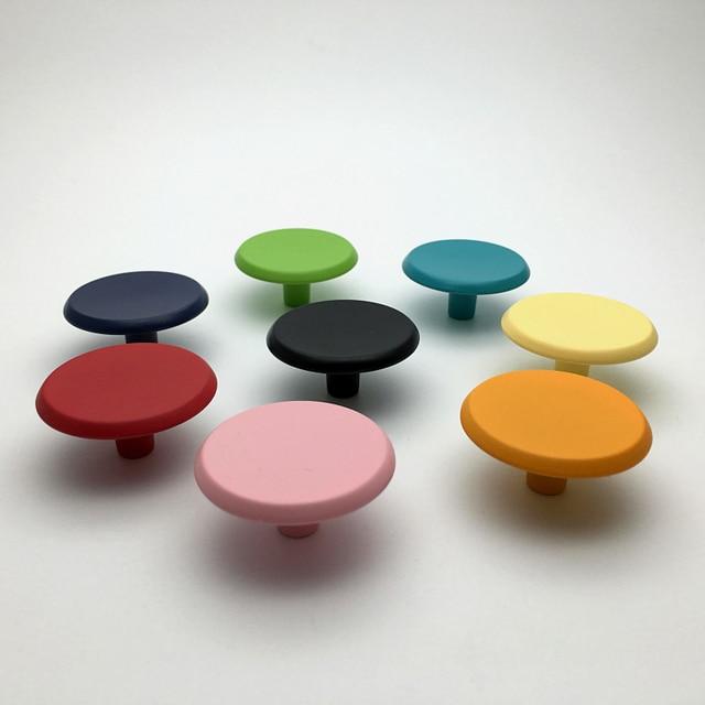 Cudowna 37mm Kolorowe Pokrętła Dresser Ciągnie Szuflady Szafki Kuchenne VO83