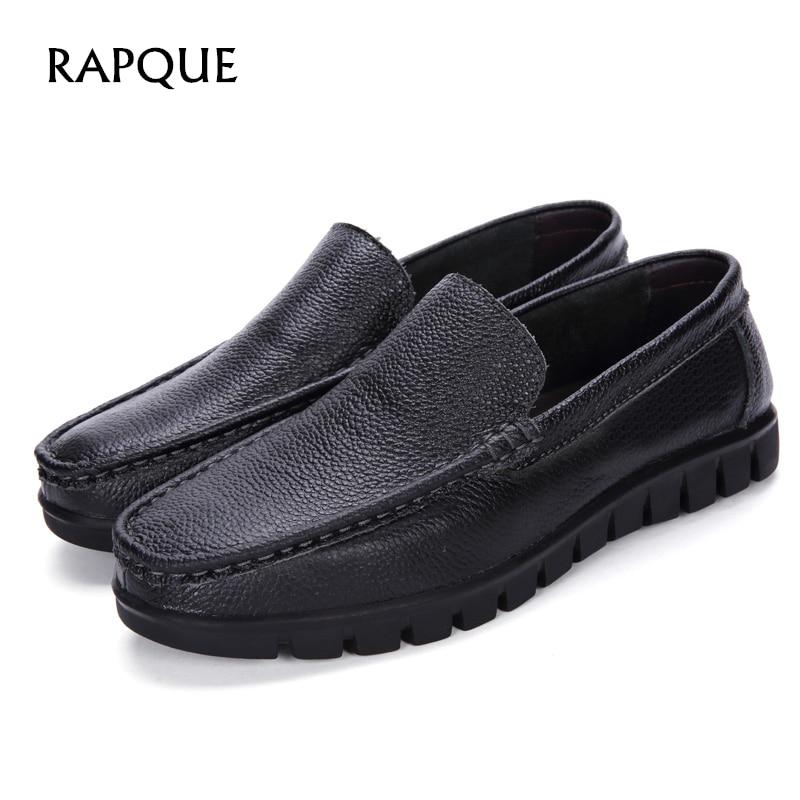 Moški čevlji usnjeni grnuine kravji vrhnji sloj moški široki - Moški čevlji