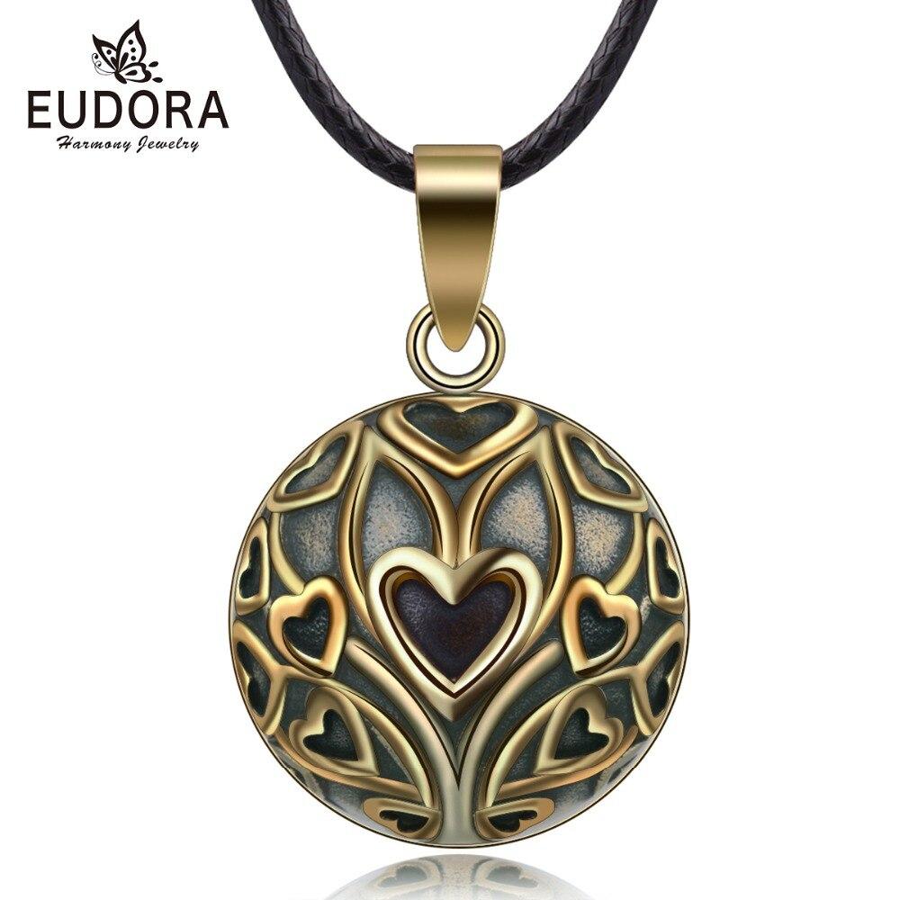 Eudora cobre Vintage corazón árbol mexicano armonía Bola colgante collar para embarazo bebé Vintage joyería fina N14NB327