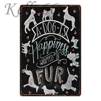 [ Kelly66 ] love dog Mom Quote Vintage Metal Sign Tin Poster Home Decor Bar Wall Art Painting 20*30 CM Size y-1289