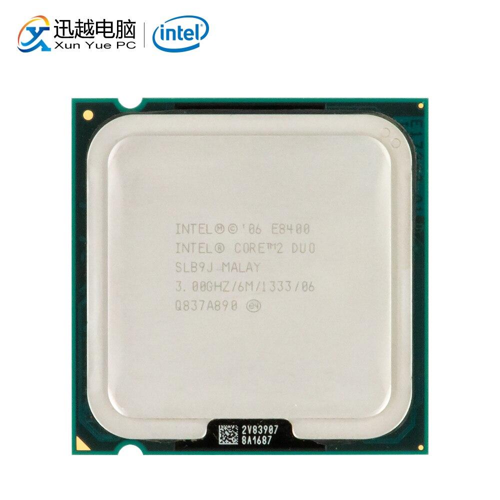 Intel Core 2 Duo E8400 שולחן עבודה מעבד Dual-Core 3.0GHz 6MB מטמון FSB 1333 LGA 775 8400 מעבד משומש