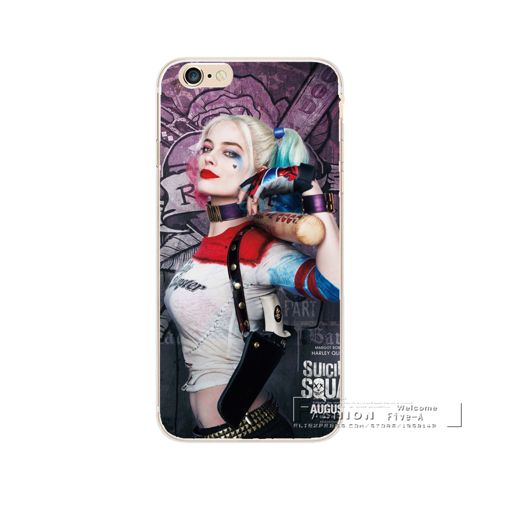 Phone Cases Jared Leto Joker Margot Robbie Harley Quinn Suicide Squad DC Comics Hard PC Cover For iPhone 5 5s 5c 6 6s 7 Plus SE