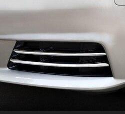 Wyższa gwiazda ABS z Chrome 4 sztuk samochodów przednie światło przeciwmgłowe dekoracji klosz do Audi A4L 2017-2019