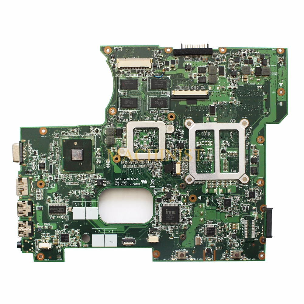 K42JR laptop motherboard REV 2.0 For ASUS A42J K42J P42J X42J K42JE K42JB K42JZ K42JY K42JR motherboard HM55 100% tested intact 1