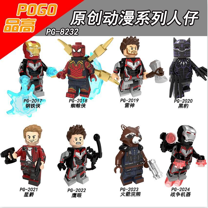 50PCS Plastics Building Blocks Iron Man Spider Man Thor Batman Sipder Man Action For Children Toys
