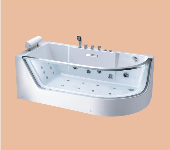 Permalink to 1700mm Fiberglass whirlpool Bathtub Acrylic Hydromassage Surfing Mixer Tub NS2025