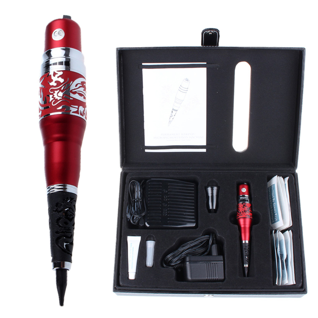 Red Dragon Permanent Makeup Machine Kits With Pedal Switch Tattoo Beauty Equipment For Eyebrow Lips Cosmetics Wholesale Price