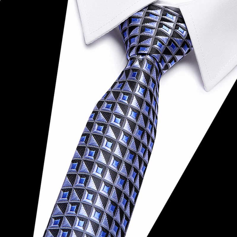 Для мужчин Галстук Пейсли 7 см Бизнес Узкие галстуки Для мужчин модные Corbatas Gravata жаккард с бантом свадебное платье рубашка аксессуары Галстуки
