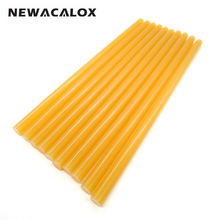 NEWACALOX 10pcs lot Yellow Hot Melt Glue Sticks DIY Tools Gun Alloy Accessories Car Audio Craft