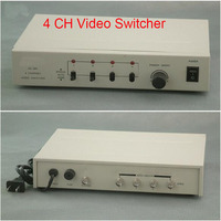 Free Shipping 4 In 1 Out Composite BNC Video Switcher For CCTV Security System