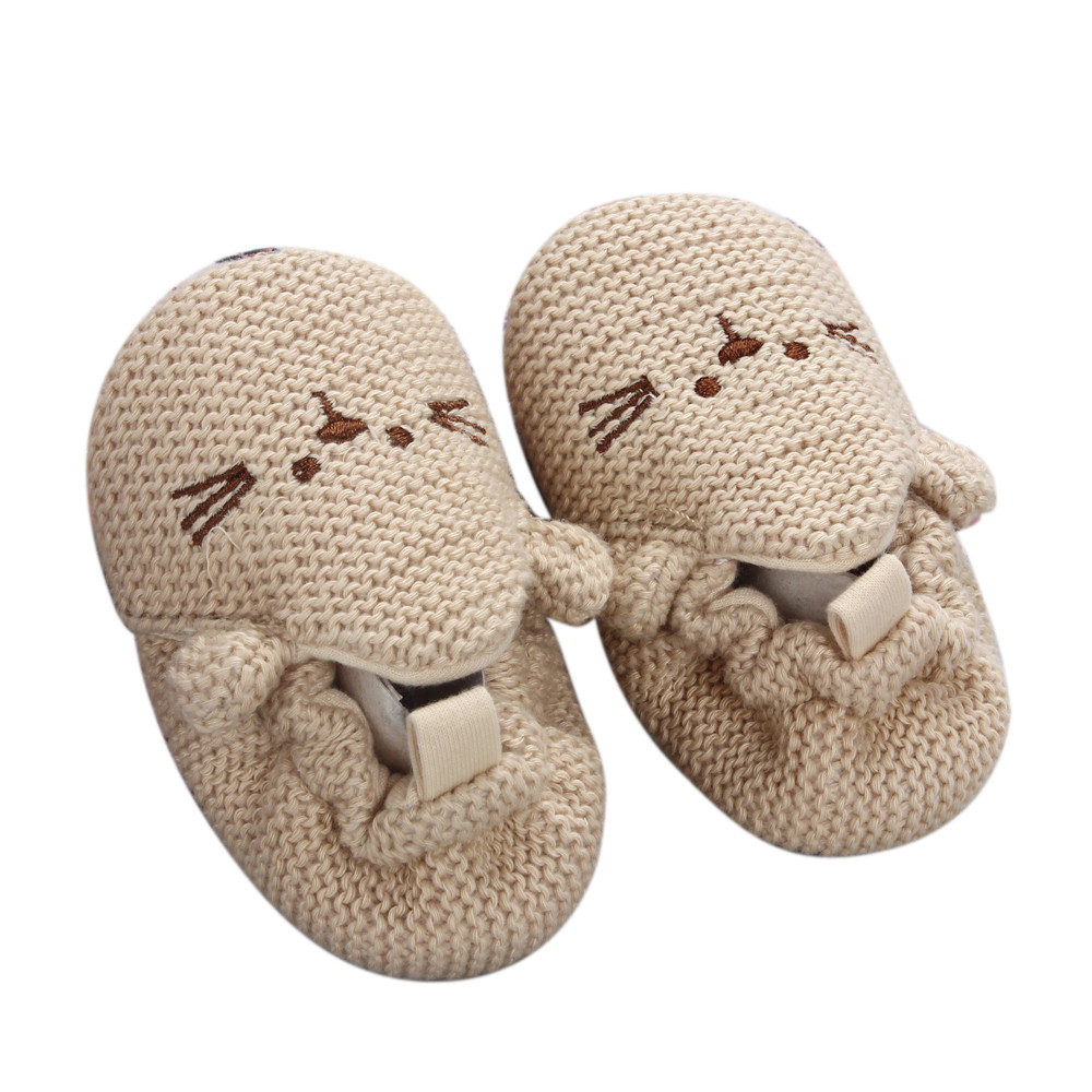 Handmade Baby Knit Crib Shoes