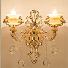 Lampe Aplique De Pared Modern Stair Indoor Lighting Sconce Crystal Wandlamp Applique Murale Luminaire Bedroom Light Wall Lamp(China)