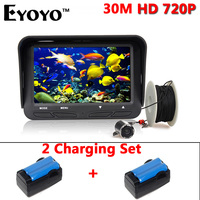 Eyoyo Original 30m 720P Professional Fish Finder 4 3 Underwater Ice Fishing Camera 6 Infrared LED