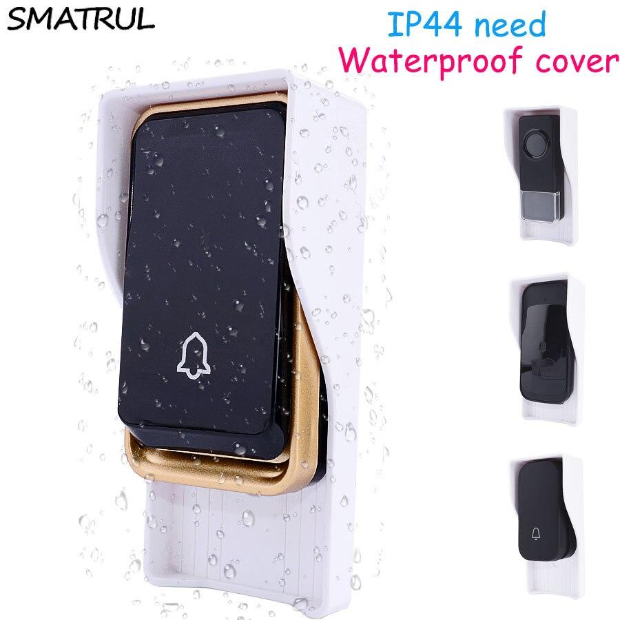 SMATRUL Waterproof cover FOR Wireless Doorbell smart Door Bell ring chime button Transmitter Launchers