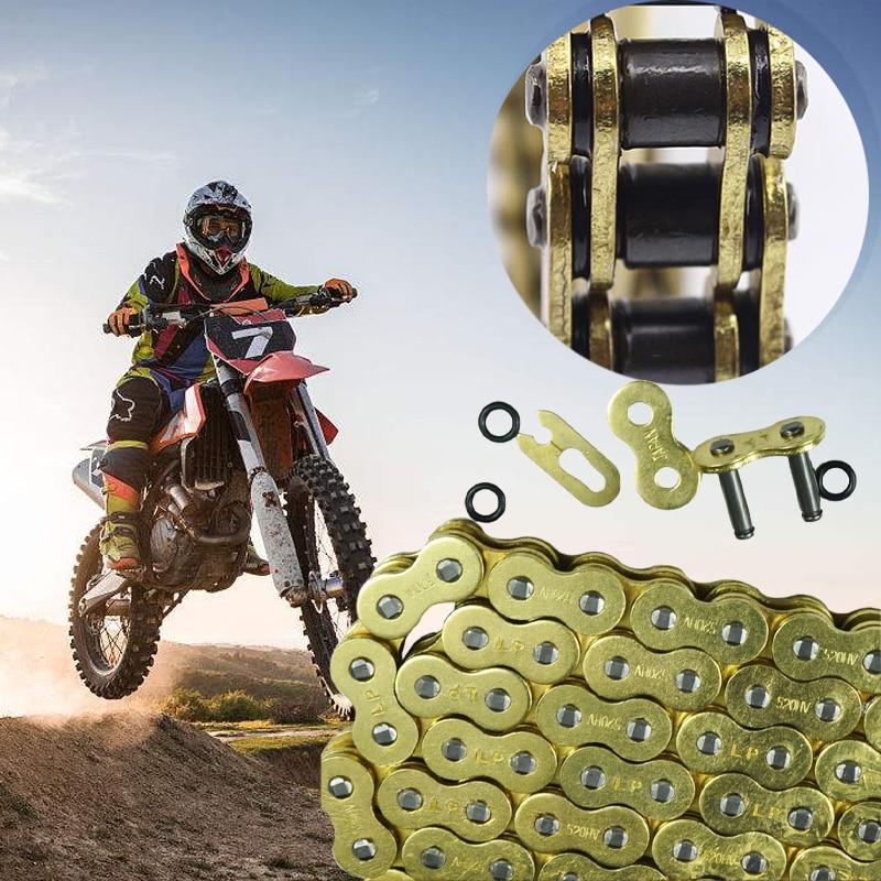 LOPOR Motorcycle Chain 520 525 530 O Ring Pit Dirt Bike MX Motocross Enduro Supermoto Racing